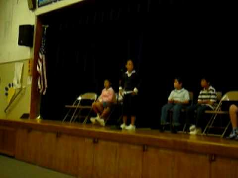2009-5 JUSTIN JIA @Bixby elementary School(Los Angeles County) Spelling Bee Contest