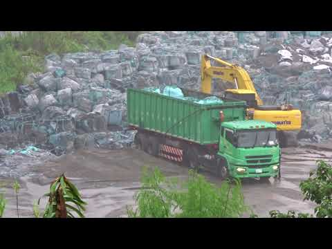 Taiwan  ???  This is the harmful fly ash of the incinerator