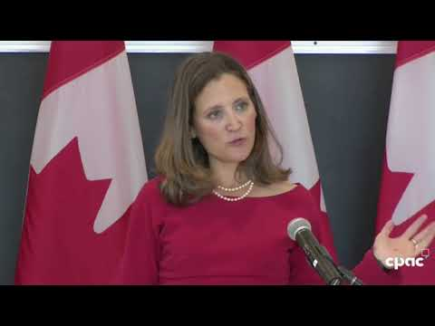 Foreign Affairs Minister Chrystia Freeland speaks on NAFTA negotiations at University of Ottawa