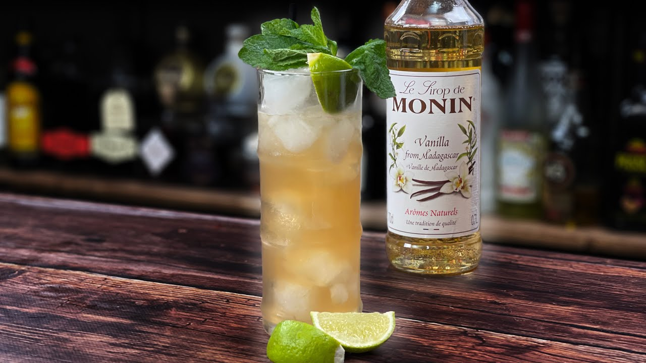 Cocktails with Vanilla Syrup - A Vanilla Mule Rum Cocktail
