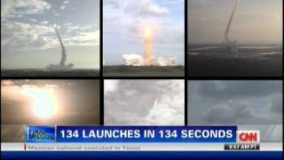134 Launches in 134 Seconds
