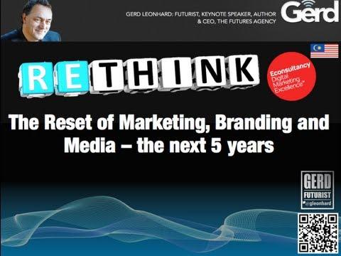 The Future of Digital Marketing: Futurist Speaker Gerd Leonhard Presentation in KL Malaysia