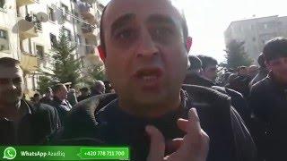 """Ağcabədidə etiraz aksiyası: """"Prezident ancaq lent kəsir"""""""