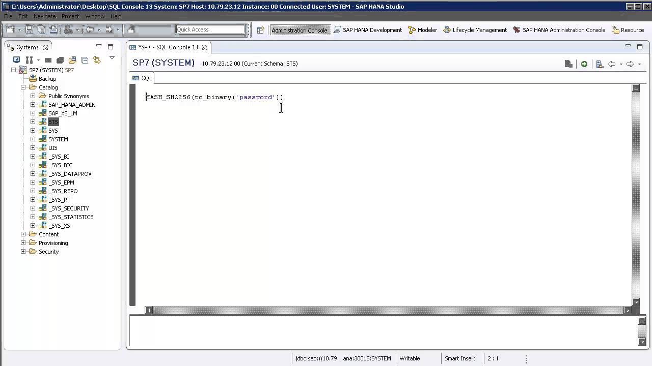 SAP HANA Academy - SQL Functions: Hash SHA256 [SPS 08]