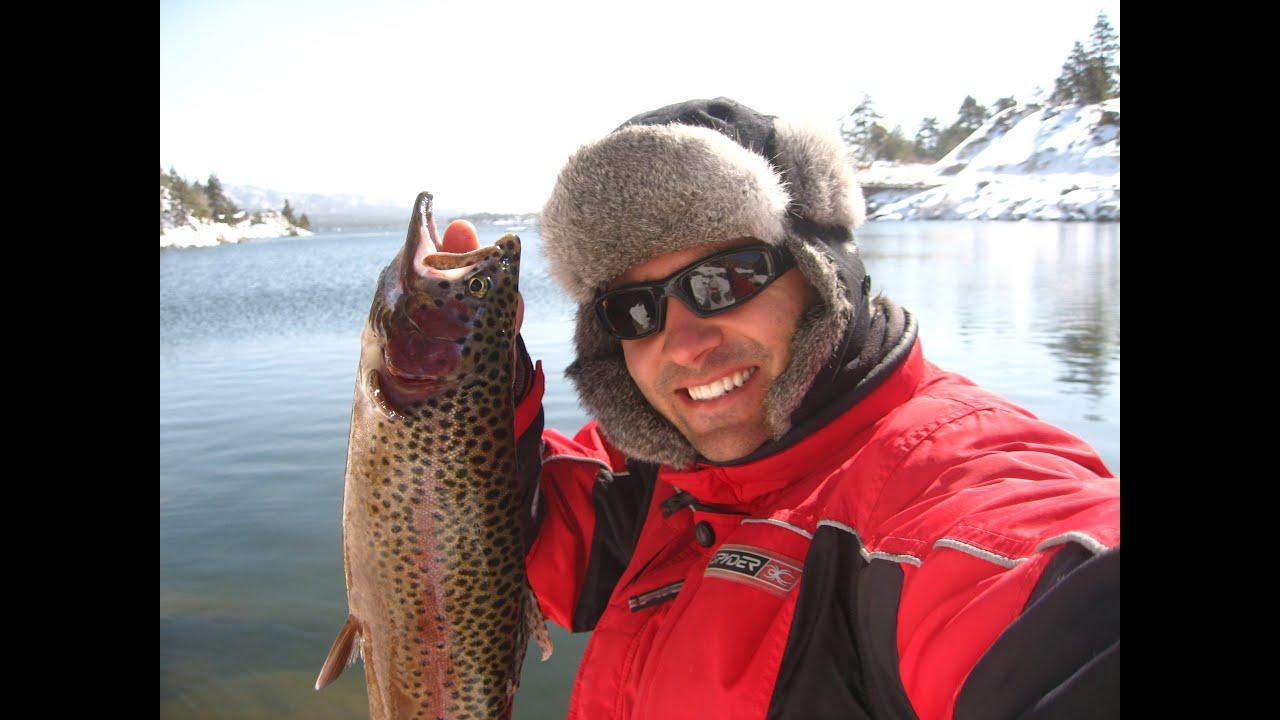 Big bear lake fishing frosty morning 11 11 12 winter for Big fish lake