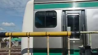 川越車両センターまつり2018 洗浄線通過体験