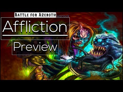 Battle For Azeroth Beta - Affliction Warlock - Preview [Class Changes & New Spell Effects]