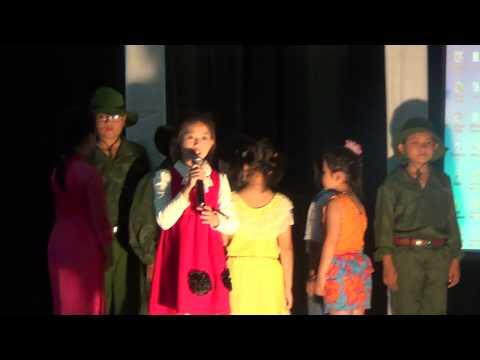Tiết mục kể chuyện của Huyền My, trường Tiểu học Nghi Hải