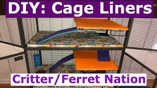 Custom Single CritterFerret Nation Cage Liners