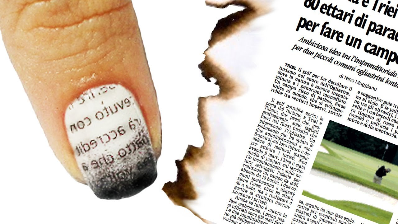 Nail art tutorial giornale bruciato burnt newspaper nails youtube prinsesfo Choice Image