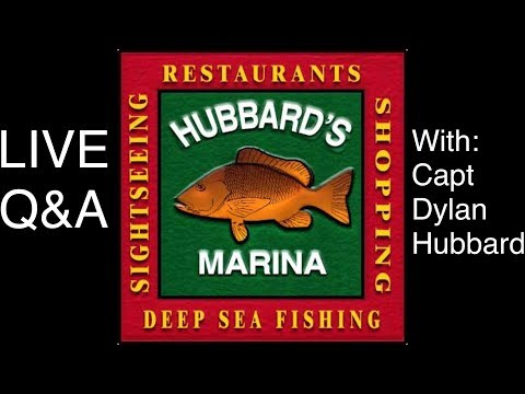 Q&A filmed LIVE with Capt Dylan Hubbard | http://www.HubbardsMarina.com