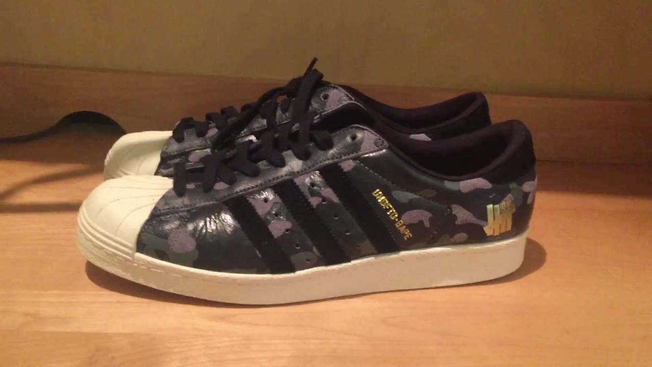 93332b945400b3 IN-DEPTH SNEAKER REVIEW  UNDEFEATED X BAPE Adidas Superstar 80s ...