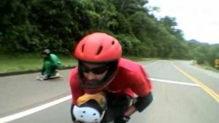 Skate longboard downhill speed Murilo da Grama action Aguas