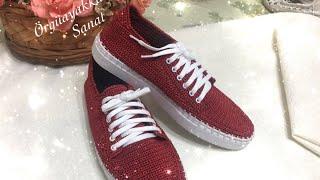 Kırmızı spor ayakkabı kadın