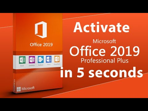 Activate Microsoft Office 2019 Final With 1 Click In 5 Seconds