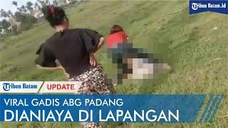 Viral Gadis ABG Padang Dianiaya Di Lapangan, Diduga Akibat Cekcok Di Media Sosial