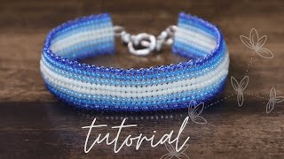 Herringbone bracelet | Ndebele stitch | Easy bead tutorial