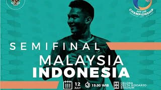 Koreo Suporter Indonesia pada Laga Semifinal AFF U-19 2018 INDONESIA VS MALAYSIA