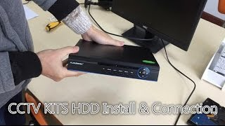 【NEW CCTV INSTALL TIPS】#1 Floureon CCTV KITS HDD Install and Connection