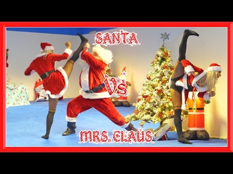Santa Vs Mrs. Claus in Real Life | Christmas Special | Flips & Kicks