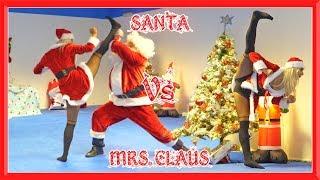 Santa Vs Mrs. Claus in Real Life | Christmas Special | Flips & Kicks