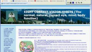 See Better, Clearer Than 20/20!  Eight Correct Vision Habits - Natural Vision Improvement