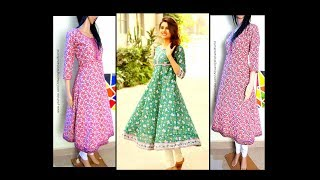 Top 5 Listed Long A line Kurta Making with less Fabric | Cutting & Stitching | DIY