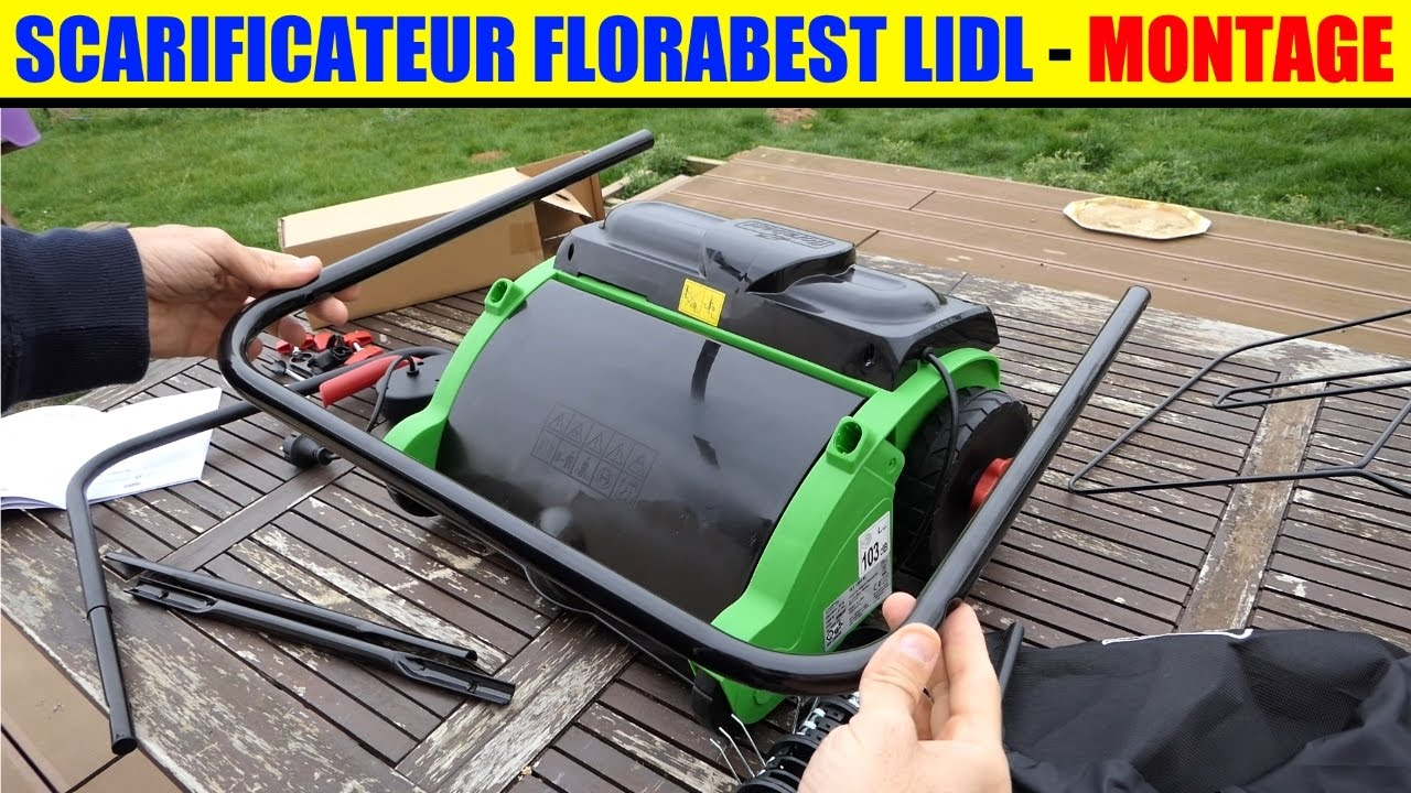 scarificateur aerateur florabest lidl montage mounting scarifier aerator vertikutierer. Black Bedroom Furniture Sets. Home Design Ideas