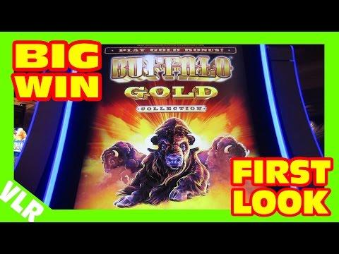 THE NEW BUFFALO GOLD - FIRST LOOK - BIG WIN Slot Machine LIVE PLAY & BONUS