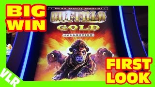 THE NEW BUFFALO GOLD - FIRST LOOK - BIG WIN Slot Machine LIVE PLAY & BONUS
