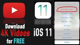 Video How to download 4K videos on iOS 11 - iOS 11 update download MP3, 3GP, MP4, WEBM, AVI, FLV November 2018