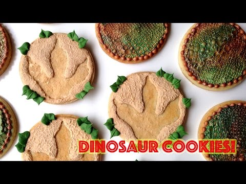 How To Decorate Dinosaur Cookies with Royal Icing and SugarVeil®!