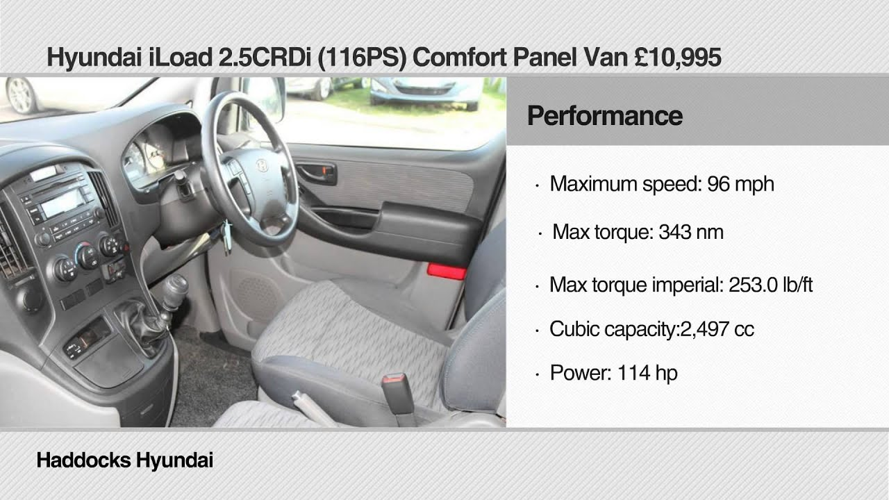 Haddocks Hyundai Reviews Iload 2 5crdi 116ps Comfort Panel Van You