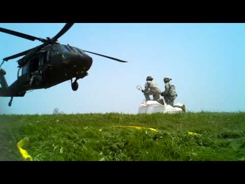 Nebraska Army National Guard 1.5Ton sand bag Sling Load Operation