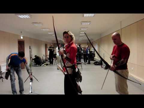 World Longbow champions Steve Morley & Urte Paulus