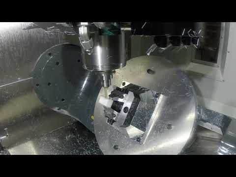 UMC-750SS 5-axis milling and positioning with G234 TCPC.