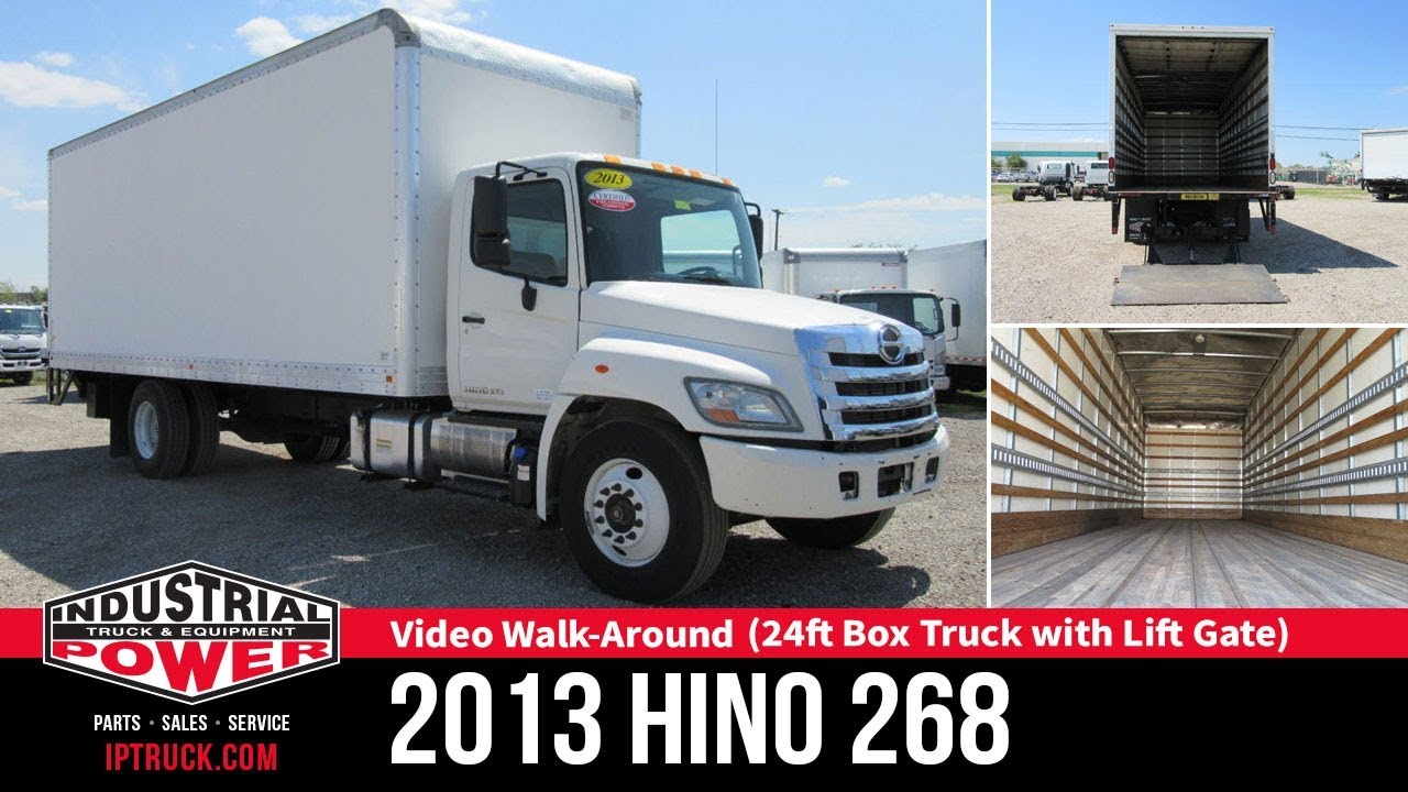 Dallas Commercial Trucks | 2013 HINO 268 24ft box truck with