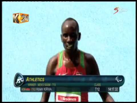 Henry Kirwa wins 1,500m T13 final in Rio Paralympics