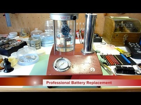 How to fit a Watch Battery to a waterproof or water resistant watch. And pressure test it.