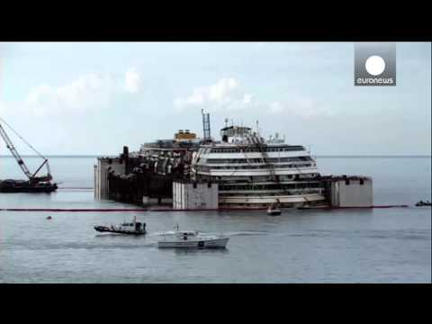 Costa Concordia timelapse: salvage operation from dawn till dusk