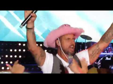 Boyzone 'Life is a Rollercoaster' Keith Duffy in crowd Sandown Park Live BZ20 Tour July 2015