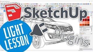 SketchUP - Как установить плагины (SketchUP уроки, обучение, tutorial)