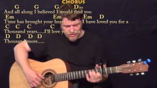 A Thousand Years (Christina Perri) Fingerstyle Guitar Cover Lessonwith Chords/Lyrics