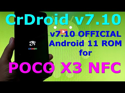 CrDroid v7.10 OFFICIAL for Poco X3 NFC (Surya) Android 11