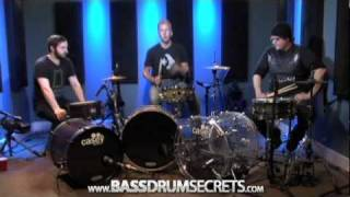 Heel Toe, Slide, and Flat Foot Bass Drum Techniques(Bass Drum Bootcamp (Free Series) - http://www.bassdrumsecrets.com/bootcamp/ . In this video, Jared Falk, Dave Atkinson, and Sean Lang discuss bass drum ..., 2011-03-30T11:11:41.000Z)