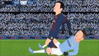 Manchester City 0 x 2 Barcelona / Champions League 18/2/14 Parodia