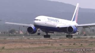 [FULL HD] Transaero 777-212(ER) Smooth landing Palma de Mallorca