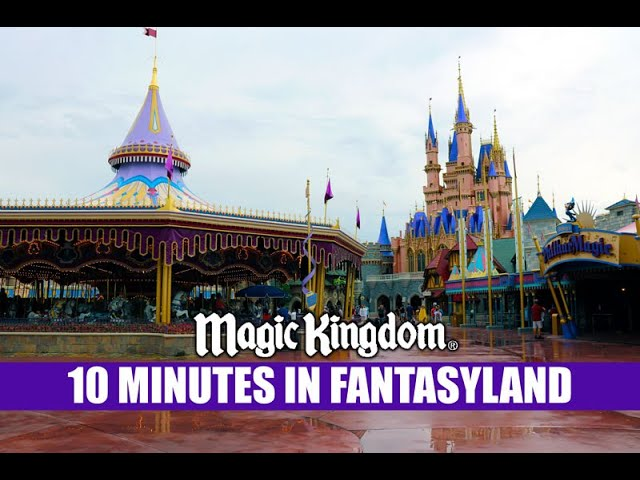 Disney's Magic Kingdom 10 Minutes In Fantasyland After The Rain - Walt Disney World Music and Crowds