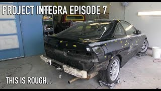 Acura Integra Project Ep.7 - Paint And Body Prep Goes Awful!