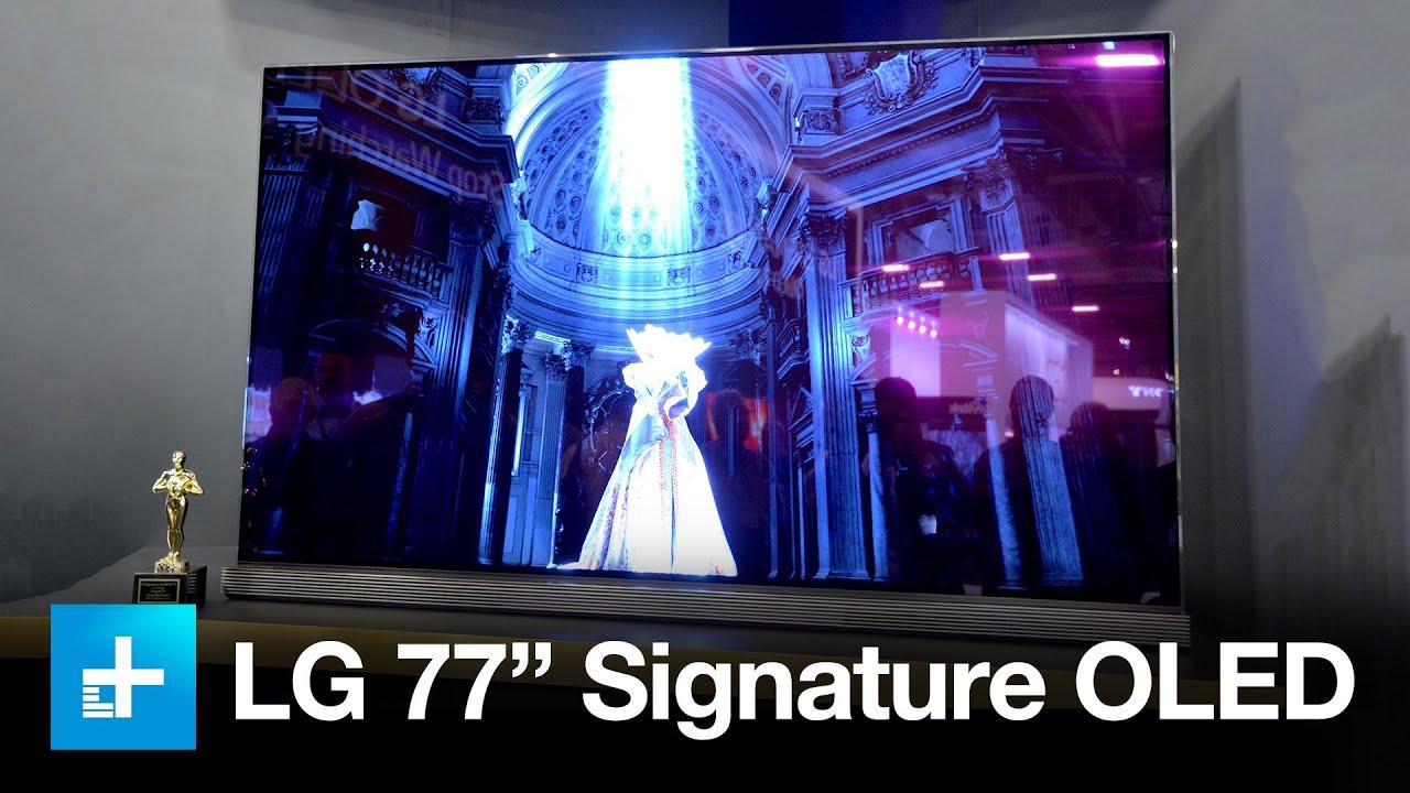 Lg 77 Inch Signature 4k Oled Tv At Cedia Youtube